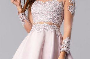 Bracelet-Sleeve Short Homecoming Dress -PromGi