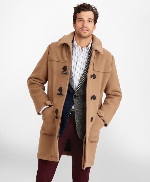 Wool Duffle Coat - Brooks Brothe