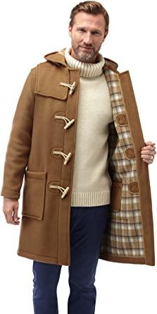 Original Montgomery Mens Wooden Toggles Duffle Coat (38, Camel) at .