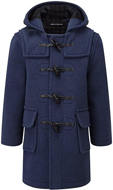 Amazon.com: Kids Classic Duffle Coat (Toggle Coat) in Indigo: Clothi