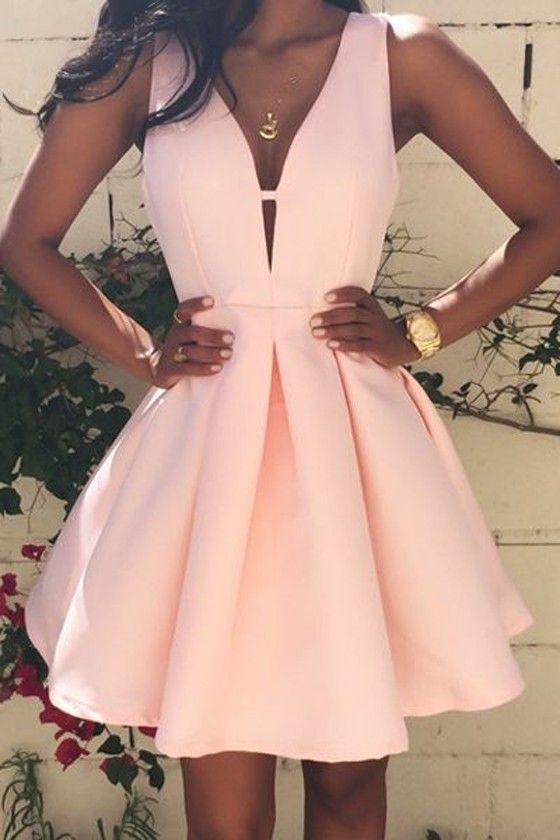 Homecoming dress,Short prom Dress,pink Prom Dresses,Party dress .