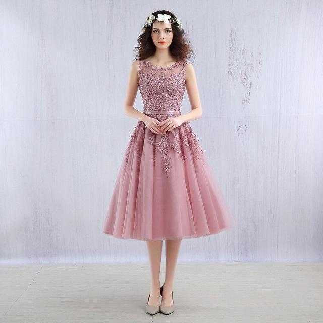 Beauty Emily Dark Pink Beaded Lace Appliques Elegent Evening .