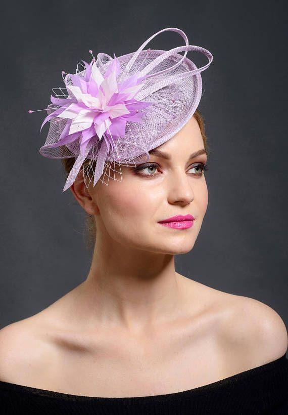 2018 trend colour fascinator hat by Marge Iilane | Purple .