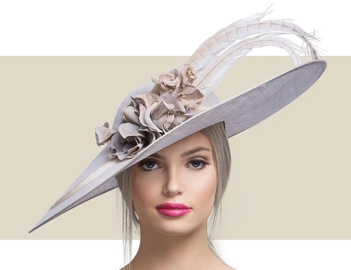Light Blue Lady Diane Seamist Fascinator Hat for Wom