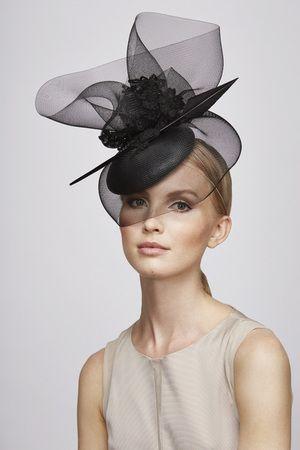 Juliette Botterill Millinery - Black Lace Feather in 2020 .
