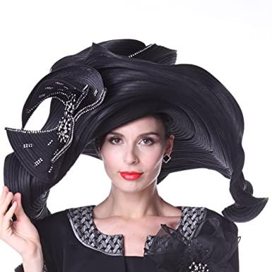 KUEENI Women Hats Church Hats Exaggeration Designer Fashion Lady .