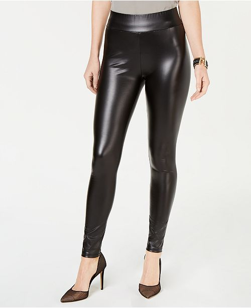 INC International Concepts INC Shaping Faux-Leather Leggings .