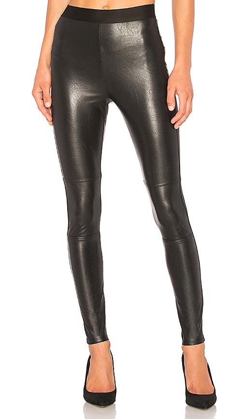 Splendid Faux Leather Legging in Black   REVOL