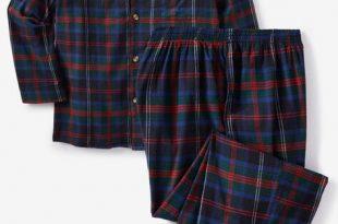 Plaid Flannel Pajama Set  Big and Tall Pajamas   King Si