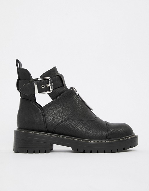 Blink Flat Ankle Boots   AS