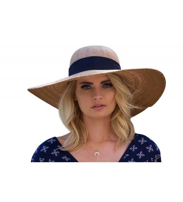 UPF 50+ Floppy Sun Hat w/Large Bow- Adjustable Size Large Beach .