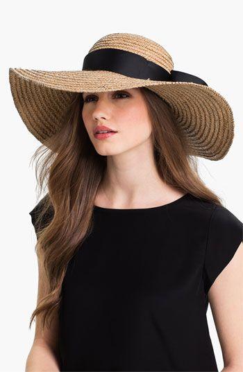 Jonathan Adler Floppy Straw Sun Hat | Summer hats, Floppy sun hats .
