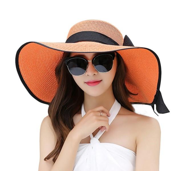 Women Floppy Hat Big Bowknot Straw Hat Wide Brim Beach Hat Sun Hat .