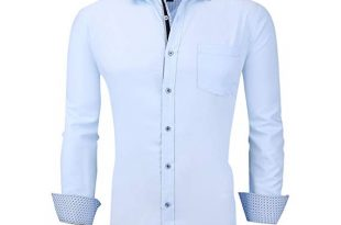 Casual King Mens Dress Shirts Wrinkle-Free Long Sleeve Button Down .
