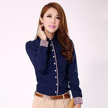 Korea Style Ladies Formal Shirts Women Business Shirts,Custom .