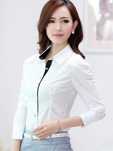 10 Best Formal Shirts for Women With Latest Designs | Formal wear .