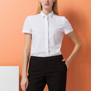 Business Women Formal Short Sleeve Shirt 2017 Spring Summer New Ol .