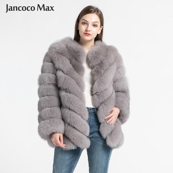 2020 Real Fur Coat Women Luxury Thick Warm Fashion Fur Jackets .