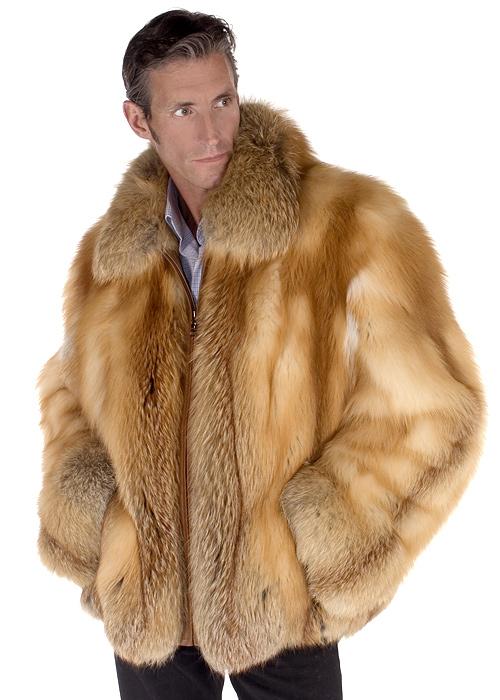 Mens Fur Jacket – Men's Natural Red Fox Jacket   Madison Avenue .