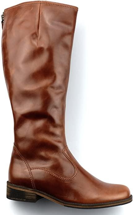 Amazon.com | Gabor Boots 72.797.93 Cognac Brown Leather Vario Leg .
