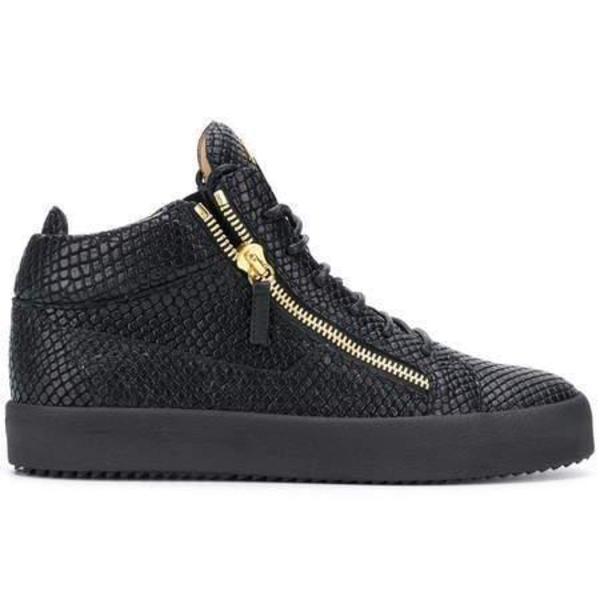 Giuseppe Zanotti Kriss Lizard-Effect Sneakers - Black   Garmento
