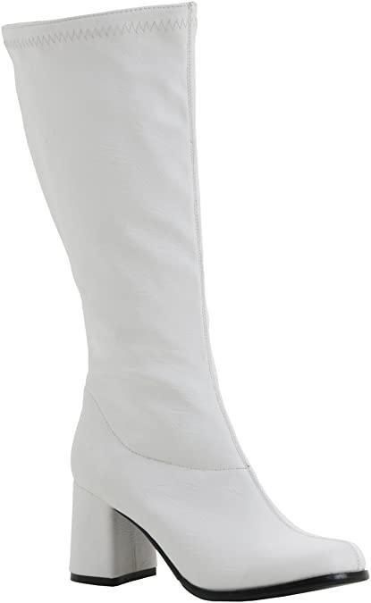Amazon.com | Go Go Boots White | Mid-Ca