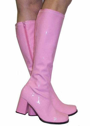 """3"""" Go-go Boots in Baby Pink Vinyl Patent Leath"""