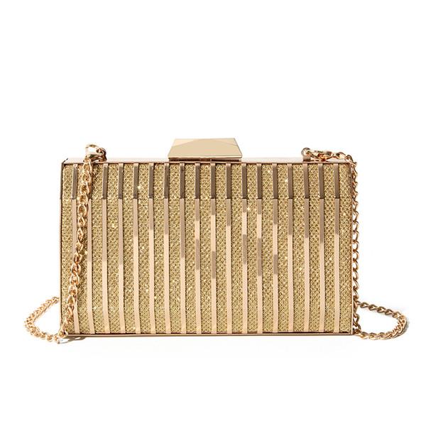 Women Evening Clutch Bag Ladies Gold Clutch Purse Chain Handbag .