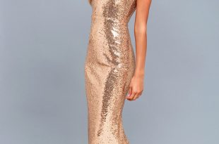 Lovely Gold Sequin Dress - Sequin Maxi Dress - Mermaid Ma