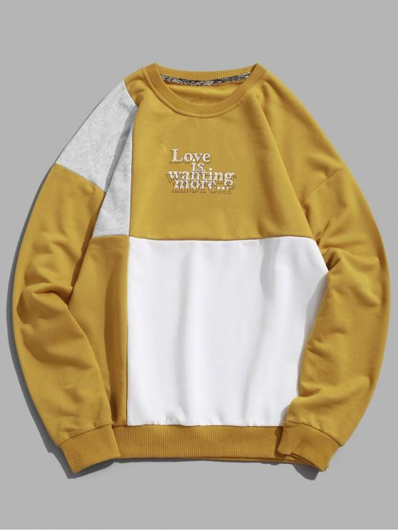 53% OFF] 2020 Letter Print Hit Color Graphic Sweatshirt In WHITE .