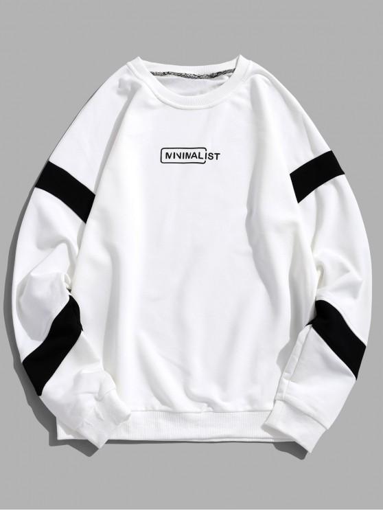 56% OFF] 2020 Drop Shoulder Stripe Trim Graphic Sweatshirt In .