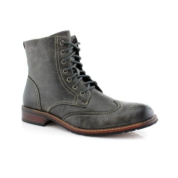 Buy Grey Men's Boots Online at Overstock | Our Best Men's Shoes Dea