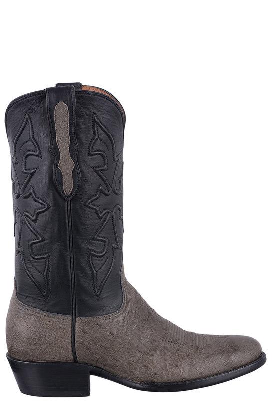 Black Jack Gray Cowboy Boots | Shop Men's Burnished Gray Smooth .