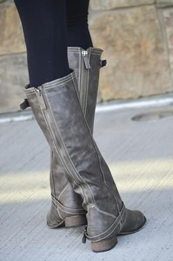Gray Riding Boots - LOVE | Riding boots, Boots, Grey boo