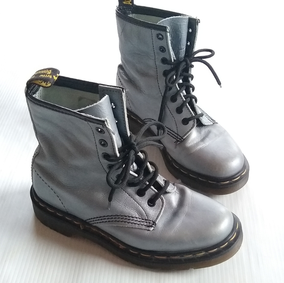 Dr. Martens Shoes | Doc Martens 1460 Made In England Gray Boots .