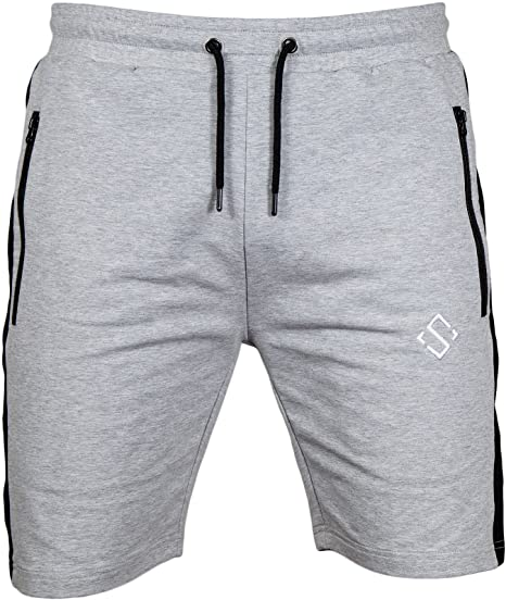 Amazon.com: Men's Shorts, Active Slim French Terry Fitted Workout .
