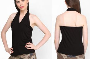 lack V - Neck Halter Neck Top at Rs 149 /piece | Ladies Tops | ID .