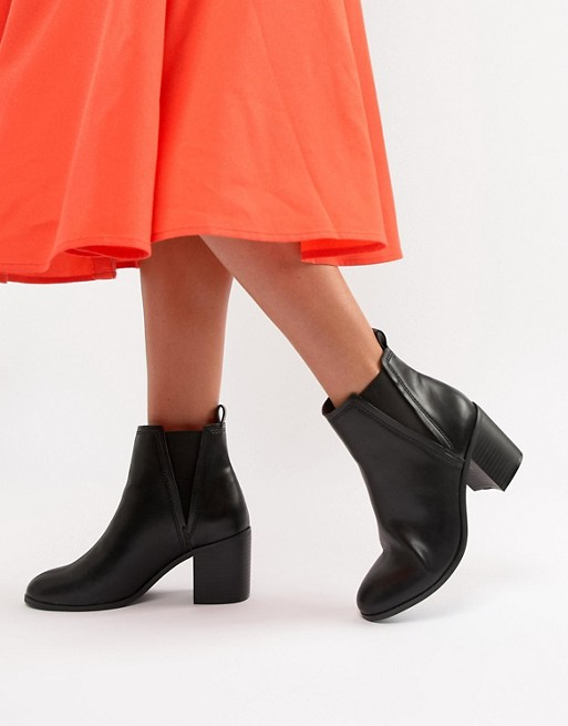 ASOS DESIGN Reside heeled ankle chelsea boots | AS