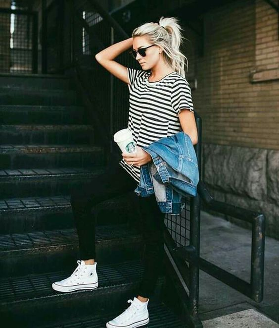 amazonshoes | Fashion, High tops outfit, White converse outfi