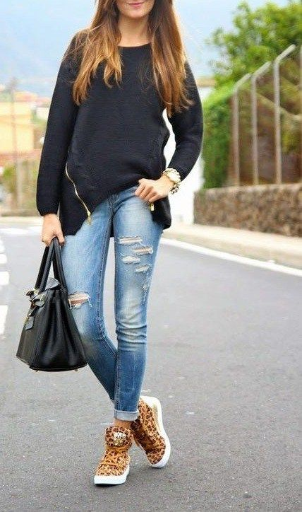 High Top Shoes Outfit