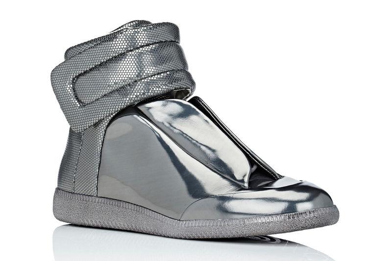 Metallic High-Top Shoes : metallic high-to