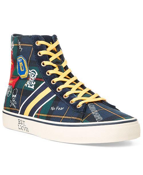 Polo Ralph Lauren Men's Solomon II Tartan High-Top Shoes .