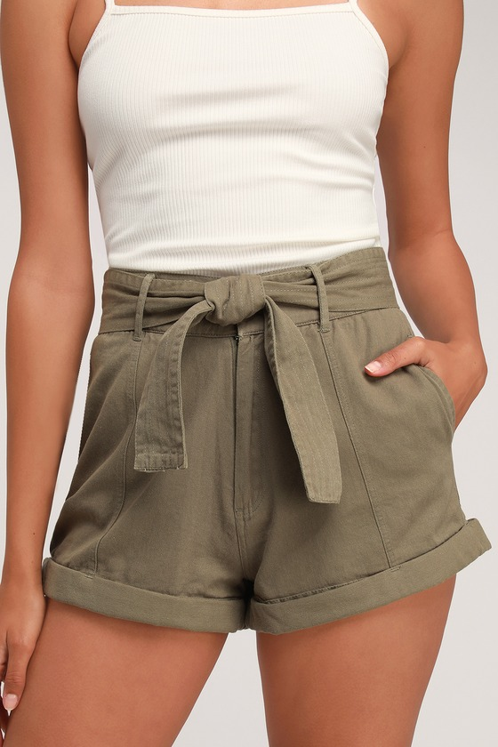 Billabong Day After Day - Olive Green Shorts - High-Waisted Sho