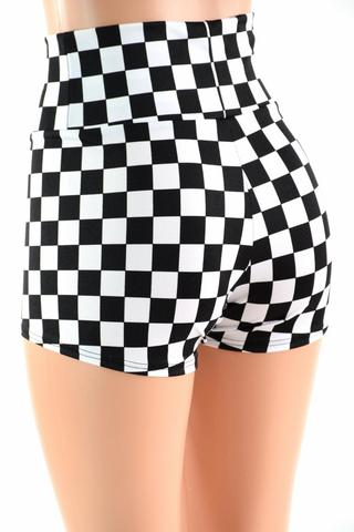 Checkered High Waist Shorts – Coquetry Clothi