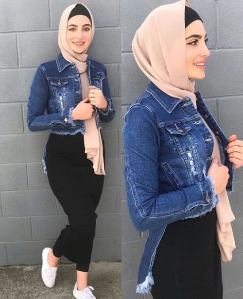 Spring skirts with hijab style     Just Trendy Gir