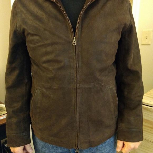 Orvis Jackets & Coats   Mens Hooded Leather Jacket   Poshma