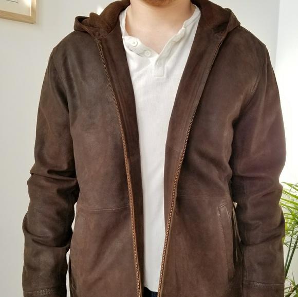 Orvis Jackets & Coats   Vintage Hooded Leather Jacket   Poshma