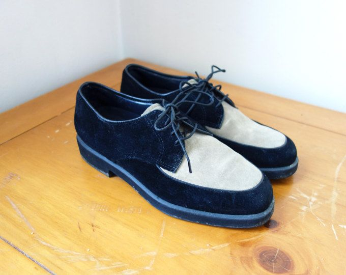Vintage 90s Hush Puppies Shoes - Suede 90s Shoes - 90s Clothing .