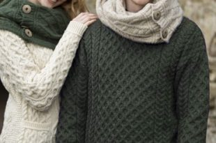 Loden Green Irish Sweater - Irish Crossroa