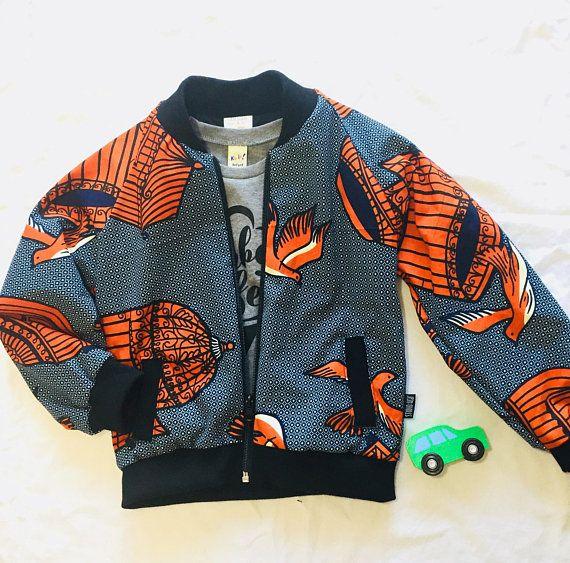 Bomber jacket African kids jacket Trendy kids jacket Ankara kids .